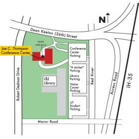 Thompson Conference Center Parking Map
